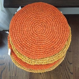 Four New Woven Placemats Fall Colors